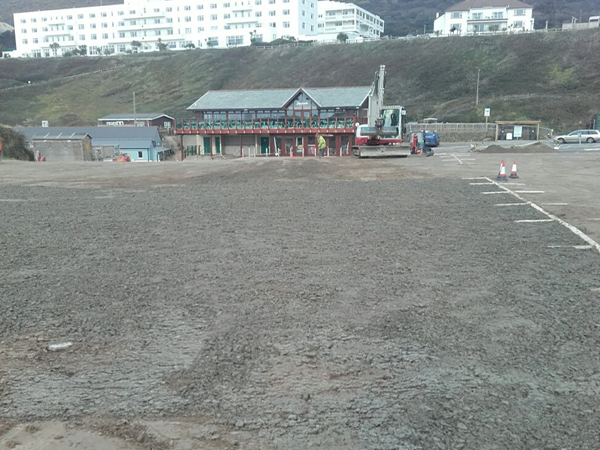 Saunton Beach Car Park Cracked and Needing Repair