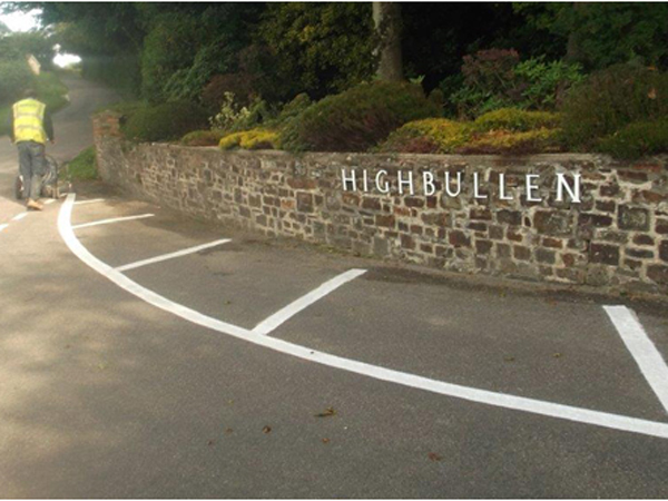 Highbullen lined entrance