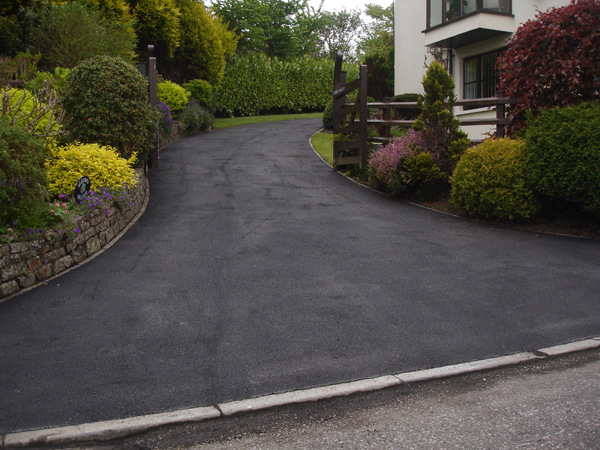 Driveway resurfaced with Tarmac