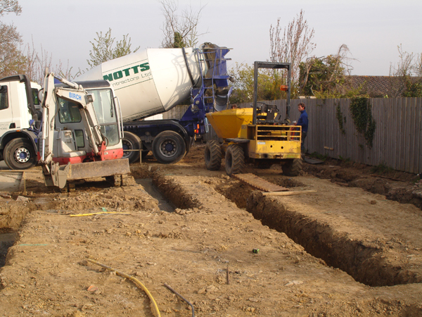 Excavation and Groundworks, Building Footings