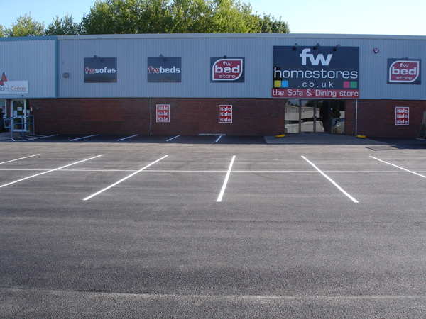 FW Homestores Car Park Surfacing